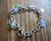 multi piece beach glass bracelet