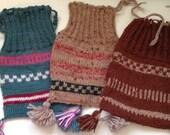 Vintage Hand Knitted Scottish Gunnison Sacks