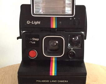 Polaroid Land Camera with Detachable Flash // Vintage