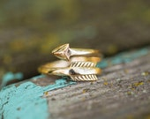 Gold Arrow Ring, Inspirational Jewelry, Follow Your Arrow Jewelry, Follow Your Arrow Ring, Arrow Jewelry