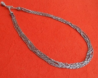 Balinese Chain sterling Silver necklace with white mabe pearl as a pendant / Silver 925 / Bali handmade jewelry.