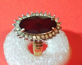 Vintage Ruby and Diamond Dinner Ring