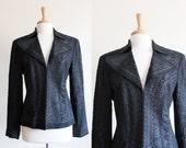 Vintage DKNY Black Wool Soutache Jacket