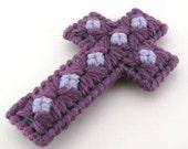 7 star Purple Christmas Easter Cross Ornament