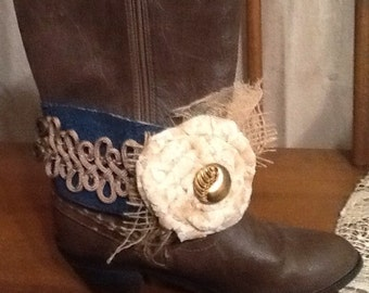 Boot bracelet, cowgirl boot cuff, cowgirl wedding, boot cuff, shabby chic, gypsy boot cuff, boot jewelry