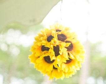Sunflower Wedding Pomander Set of 10