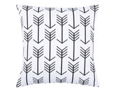 BLACK Pillow Cover.Decorator Pillow Cover.Home Decor.Large Print. ARROW BLACK.Slipcover. Cushion.Pillow. Premier Prints