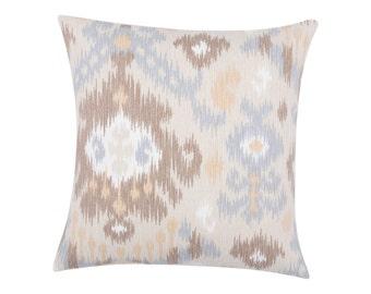 NEUTRAL tan  Pillow Cover.Decorator Pillow Cover.Home Decor.Large Print. BLURRED LINES Dusk. Cushions. Cushion.Pillow. Premier Prints