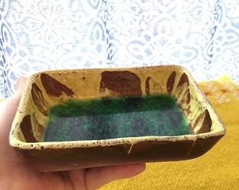Vintage Kiln Craft Art Pottery Dish