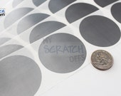 """Silver 2"""" Round Scratch Off Labels"""