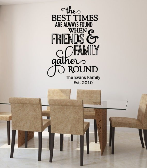 Kitchen Inspirational Quotes: Family Wall Decal Quote Kitchen Quote Kitchen Decals Family