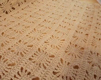 Large Vintage Table Doily, Beautiful Hand Crocheted Table Doily, Delicate Dense Tiny Stitches, Vintage Antique Table Dressing, Display