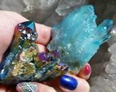 RESERVED! Aqua aura and titanium quartz crystal package