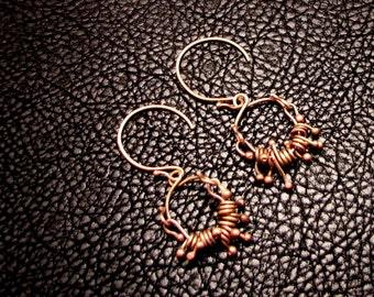 Brass Earrings, Brass jewelry, Brass wire, greek earrings, roman earrings, brass earrings