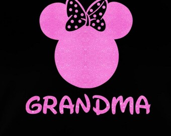 Minnie Mouse Grandma SVG JPEG instant digital file download for vinyl cutters