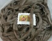 Suri Alpaca Silk Roving. Natural Color Alpaca, Silky Soft Roving, Luxury Spinning Fiber, Rose Grey Suri , Ember,4oz listing
