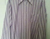 men's purple woven dress shirt Van Heusen xl 17 17.5