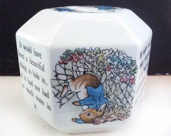Wedgwood Peter Rabbit octagon child's bank - porcelain