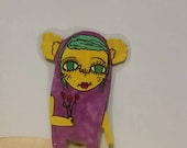creature , bookmark,hand drawn, laminated,adorable,fun,weird,cute,silly,reading,gift,ornament