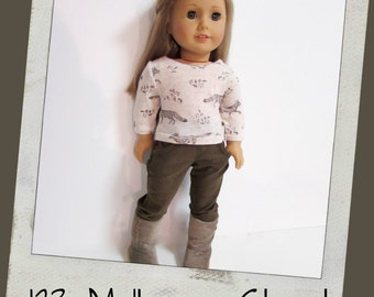 """Reserved for Jackie - Forest Print T-shirt and Brown Khaki Corduroy Jeans  fits 18"""" dolls like American Girl, Maplelea"""