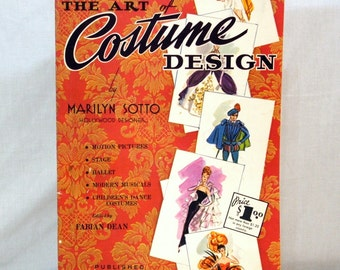 Walter Foster Art Instruction, Costume Design By Marilyn Sotto, Vintage Book