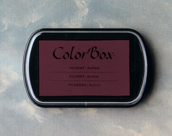 Red Stamp Pad (Chianti) // Pigment Archival Ink // ColorBox