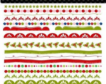 ON SALE Christmas Border clipart, border clipart, christmas banner, clipart, digital clipart,instant download