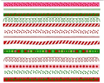 ON SALE Christmas Border clip art, border clip art, christmas banner, clip art, digital clipart,instant download