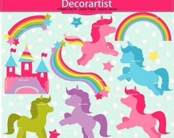 ON SALE Unicorn Clip Art, fairy clip art, Silhouette clip art, pink fairy silhouette ,fairy horse clip art