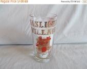 on sale Vintage Gaslight Village Lake George Tall Drinking Glass