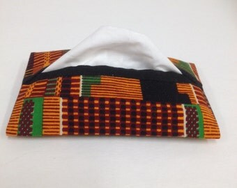 Travel Sized, Pocket Tissue Cover, African Print