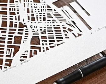 Montreal, welland, ottawa, or toronto, 10x10 hand cut map