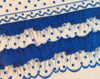 Vintage Blue and White Dotted  Flour Feedbag Pillowcase Fabric (L-38)