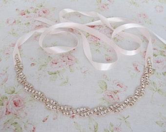Rose Gold Rhinestone Bridal Headband,Bridal Accessories,Wedding Accessories,Crystal Wedding Hairband,Bridal Headpiece,#H7