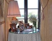 "Drapes with tassel fringe (two 50"" W panels) pair European linen drapes, linen curtain panels,"