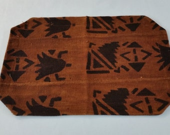Mudcloth placemat mud cloth, bogolan brown, black, place-mat