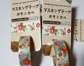 DAISO Japan Botanical Masking Washi Tape for Scrapbooking,  Card Making, Altered Art, ATC, and Other Paper Projects