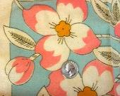 Vintage VOGART Tinted  Stamped Pillow Top & Back  * Beautiful Tinted Pink and Yellow Flowers * 19 x 36 * MWT