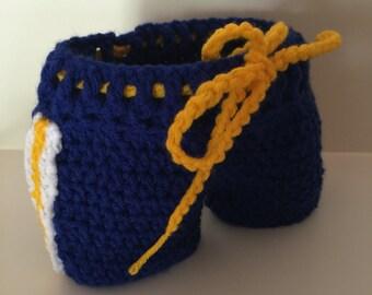 University of Michigan Baby Hockey Pants, Diaper Cover, Hockey baby breezers