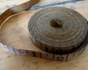 Vintage tape measure, 2 yards measurement tape, Antique tape measure, 2 yards of old tape measure, Vintage number tape, Old tape measure