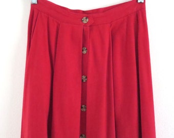Vintage red twill skirt Vintage Country Shop skirt Women 10 Vintage Marshall Field skirt Vintage red skirt Long red skirt Classic preppy USA
