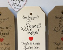 Smore Love Rustic Wedding Favor Tags Labels Only  S'more Tags (choice of 50-300) Rustic Wedding Favors Labels Smore Sending you S'more Love