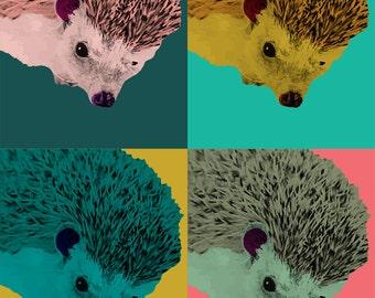 Pet Portrait Pop Art - Bunny, hedgehog, turtle, hamster - digital file