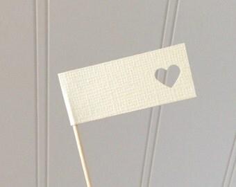 Wedding Cupcake Flags Custom Colors- Bridal Shower- Baby Shower
