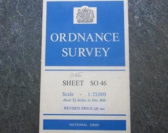 1961 Vintage Ordnance Survey Map of Orleton