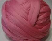Wool Roving - Camellia Merino Wool Roving - 7.5 oz - Pink Roving, Pink Wool