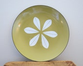 """SALE - Vintage 12"""" Cathrineholm Avocado Green Lotus Enamelware Plate/Platter - WAS 85"""