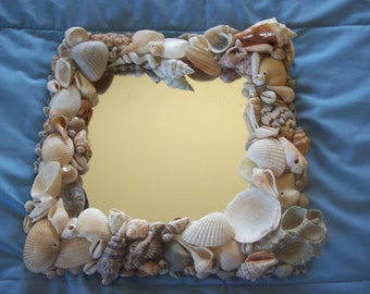 Hand Decorated Seashell Framed Mirror