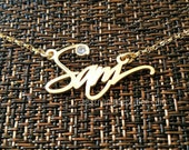 Handwriting Name Necklace, Free Hand Custom Necklace with name, personalized handwritten memorial name necklace,