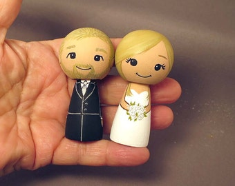 Wedding Cake Toppers Blonde Couple